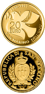 20 euro coin 25th Anniversary of the Entry of San Marino in Uno | San Marino 2017