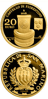 20 euro coin Architectural Elements of San Marino: Castles of Fiorentino and Chiesanuova | San Marino 2016