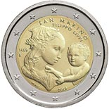 2 euro coin 550th Anniversary of the Death of Filippo Lippi | San Marino 2019