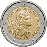 2 euro coin 500th Anniversary of the Death of Leonardo da Vinci | San Marino 2019