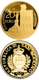 20 euro coin 10th anniversary of the inscription of San Marino in the UNESCO World Heritage List | San Marino 2018