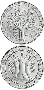 5 euro coin International Forest Day | San Marino 2019