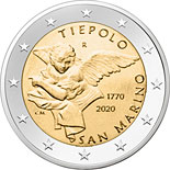 2 euro coin 250th Anniversary of the Giovanni Battista Tiepolo | San Marino 2020