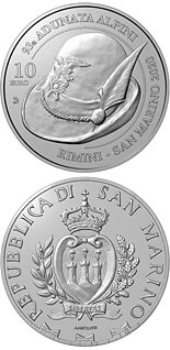 10 euro coin 93rd National Alpini Assembly Rimini | San Marino 2020