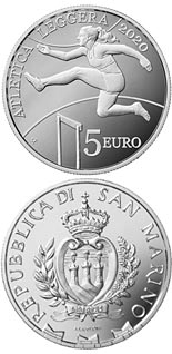 5 euro coin Athletics Championships of the Small States of Europe 2020 | San Marino 2020