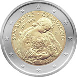 2 euro coin 450th Anniversary of the Brith of Caravaggio | San Marino 2021