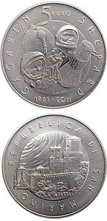 5 euro coin 50th anniversary of men in space | San Marino 2011
