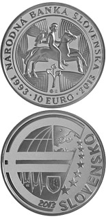 10 euro Národná banka Slovenska (National Bank of Slovakia) - the 20th anniversary of the foundation - 2013 - Series: Silver 10 euro coins - Slovakia