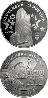 1000  coin Farewell to the Slovak Koruna | Slovakia 2008