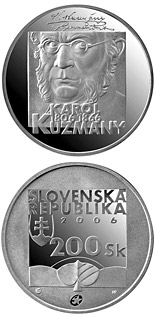 200 crowns 200th Anniversary of the Birth ot the Karol Kuzmany - 2006 - Series: Silver 200 crown coins - Slovakia