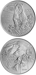 500 crowns Protection of Nature and Landscape: Low Tatras National Park - 2008 - Series: Silver 500 crown coins - Slovakia