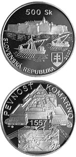 500 crowns The Construction of the Old Fortress at Komarno - the 450th Anniversary - 2007 - Series: Silver 500 crown coins - Slovakia
