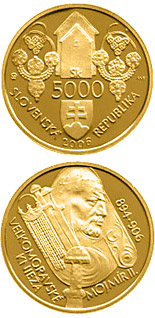 5000 crowns Mojmir II, the Great Moravian Ruler - 2006 - Series: Gold 5000 crown coins - Slovakia