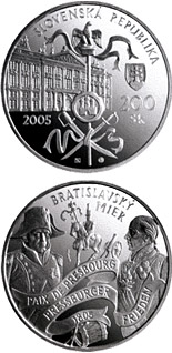 200 crowns coin Peace of Bratislava - the 200th Anniversary of the Signing | Slovakia 2005
