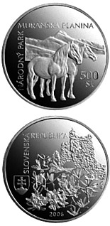 500 crowns Protection of Nature and Landscape:Muranska planina National Park - 2006 - Series: Silver 500 crown coins - Slovakia