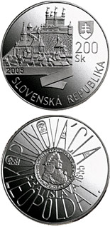 200 crowns The Bratislava Coronations - 350th Anniversary of the Coronation of Leopold I - 2005 - Series: Silver 200 crown coins - Slovakia