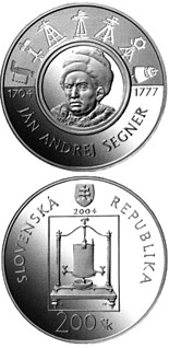 200 crowns coin The 300th anniversary of the birth of Jan Andrej Segner | Slovakia 2004