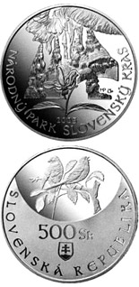 500 crowns Protection of Nature and Landscape: Slovensky Kras National Park - 2005 - Series: Silver 500 crown coins - Slovakia