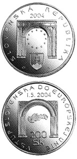200 crowns The Entry of the Slovak Republic to the European Union - 2004 - Series: Silver 200 crown coins - Slovakia