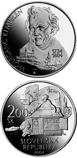 200 crowns coin The 200th anniversary of the death of Wolfgang Kempelen | Slovakia 2004
