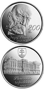200 crowns The 150th anniversary of the birth of Jozef Skultety - 2003 - Series: Silver 200 crown coins - Slovakia