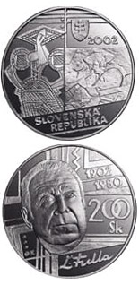 200 crowns coin The centenary of the birth of Ludovit Fulla | Slovakia 2002