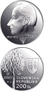 200 crowns The 80th anniversary of the birth of Alexander Dubcek - 2001 - Series: Silver 200 crown coins - Slovakia