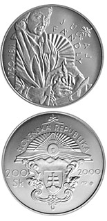 200 crowns The 250th anniversary of the birth of Juraj Fandly - 2000 - Series: Silver 200 crown coins - Slovakia