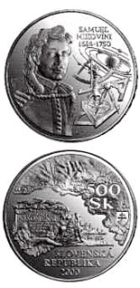 500 crowns The 250th anniversary of the death of Samuel Mikovini - 2000 - Series: Silver 500 crown coins - Slovakia
