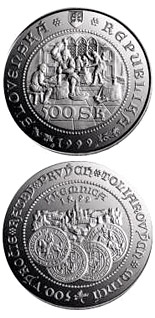 500 crowns coin The 500th anniversary of the striking of the first thaler coins at Kremnica | Slovakia 1999