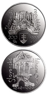 200 crowns coin The 50th anniversary of founding of the Slovak Philharmonia | Slovakia 1999