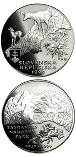 500 crowns coin The fiftieth anniversary of the declaration of the Tatras National Park | Slovakia 1999