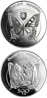 500 crowns The Pieniny National Park - 1997 - Series: Silver 500 crown coins - Slovakia