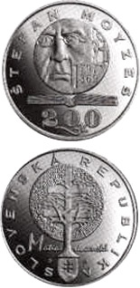 200 crowns The bicentennial of the birth of Stefan Moyzes - 1997 - Series: Silver 200 crown coins - Slovakia