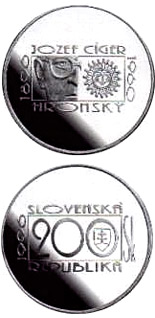 200 crowns The centenary of the birth of Jozef Ciger Hronsky - 1996 - Series: Silver 200 crown coins - Slovakia