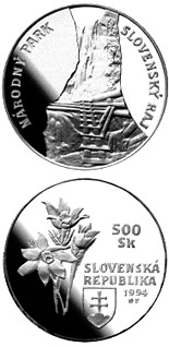 500 crowns The Slovensky Raj National Park - 1994 - Series: Silver 500 crown coins - Slovakia