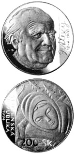 200 crowns The centenary of the birth of Janko Alexy - 1994 - Series: Silver 200 crown coins - Slovakia