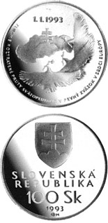 100 crowns coin The foundation of the Slovak Republic | Slovakia 1993