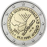 2 euro coin 20th anniversary of the formation of the Visegrad Group  | Slovakia 2011