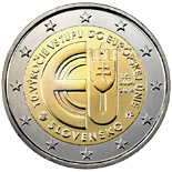 2 euro coin 10 Years of Slovakian Membership in European Union | Slovakia 2014