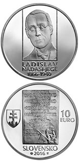 10 euro coin 150th anniversary of the birth of Ladislav Nádaši-Jégé | Slovakia 2016