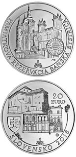 20 euro coin Historical Preservation Area of Banská Bystrica | Slovakia 2016