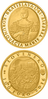 100 euro coin Bratislava Coronations - 275th anniversary of the coronation of Maria Theresa | Slovakia 2016
