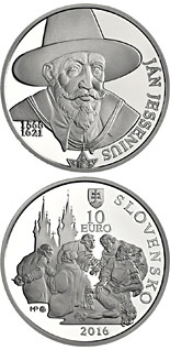 10 euro 450th anniversary of the birth of Ján Jesenius - 2016 - Series: Silver 10 euro coins - Slovakia