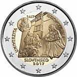 2 euro coin 550th anniversary of the establishment of Academia Istropolitana | Slovakia 2017