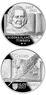 10 euro coin 150th anniversary of the birth of Božena Slančíková-Timrava | Slovakia 2017
