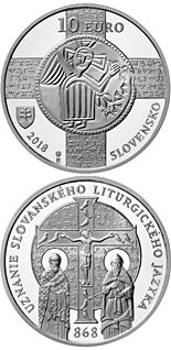 10 euro coin 1150th anniversary of the recognition of the Slavonic liturgical language | Slovakia 2018