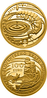 100 euro World Natural Heritage - Caves of Slovak Karst - 2017 - Series: Gold 100 euro coins - Slovakia
