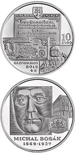 10 euro coin 150th anniversary of the birth of Michal Bosák | Slovakia 2019
