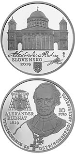 10 euro coin 200th anniversary of the appointment of Alexander Rudnay as the Archbishop of Esztergom | Slovakia 2019